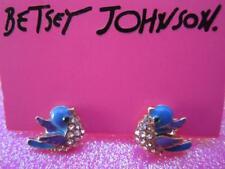 Betsey Johnson Crystal Blue Bird Earrings