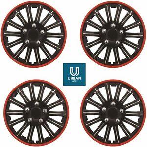 "Wheel Trim Cover Lightning Red Trim 14"" To Fit Peugeot 207 Hub Cap Wheel Cover"