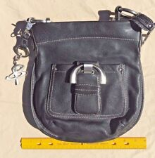 B MAKOWSKY Genuine Leather Handbag - Purse - Black