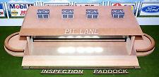 """HO Laser-cut Pit Lane, Inspection, Paddock w/Lights, Ramps, Borders """"Loaded"""""""