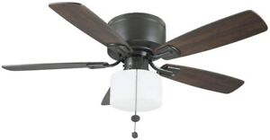 Hampton Bay Bellina 42 in. Oil-Rubbed Bronze Ceiling Fan with LED Light Kit