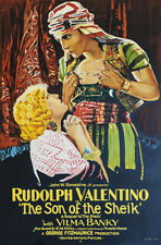 Rudolph Valentino Son of the Sheik Vintage Movie Poster Hand Pulled Lithograph