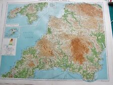 1919 LARGE ANTIQUE MAP- THE NETHERLANDS, INSETS POPULATION, DUTCH POSSESSIONS