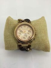 Michael Kors Goldtone Brown Tortoise Shell Watch