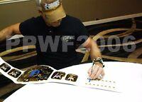 WWE SHAWN MICHAELS SIGNED ADULT WHITE INTERCONTINENTAL CHAMPIONSHIP BELT W/PROOF