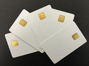 Atmel AT88SC6416C Blank PVC Card - 10pcs High Quality .30 Mil ISO Smart Card