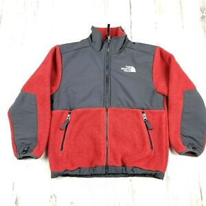 The North Face Nylon/Fleece  Red and Gray Jacket Boys Size S Boys EUC