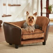 Dog Bed Pet Couch Small Dog Sofa Furniture Elevated Sleeper Wood Frame