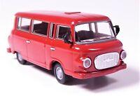 H0 BREKINA Barkas B 1000 KB Kleinbus Bus Transporter dunkelrot DDR # 30037