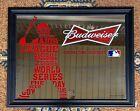 budweiser baseball mirror sign