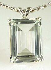 Collane e pendagli di lusso con gemme naturale smeraldo in argento