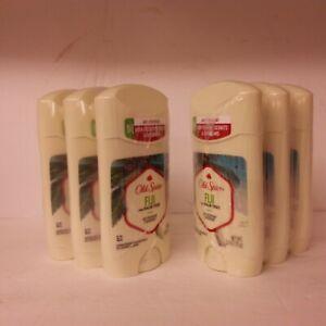 Lot of 6 Old Spice Fiji With Palm Tree Deodorant 2.6 oz Each New .............2B
