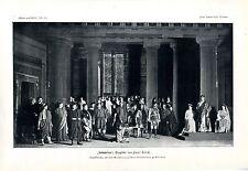 """""""Demetrius""""Tragödie von Paul Ernst Uraufführung Hoftheater Weimar Kunstdruck1910"""