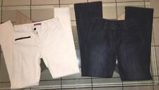 Lot De 2 Pantalon Fille 12 Ans. Jean Brut TAO & Jean Blanc Slim Élastique Gémo.