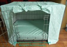 "Dog Crate Cage Cover Medium 30"" @TheDoZeeePetBedCo Dotty Spots Canvas Cotton"