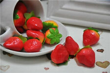 100pcs fake mini strawberry artificial fruit Home Garden party decor art decor