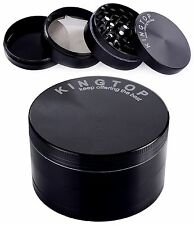 KingTop Herb Spice Grinder Large 3.0 Inch Black - New - FREE Shipping