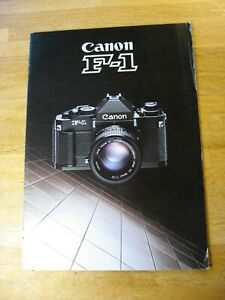 Vintage 1988 Canon F-1N Brochure