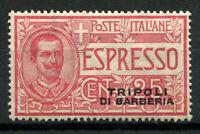 Tripoli di Barberia 1909 Sass. 1 Nuovo ** 80% Espressi 25 cent