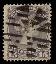 #29i Large Queen 15c Canada used well centered fancy cancel
