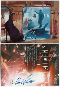 Charles Hall Alien 3 painted sketchcard artist proof 1 of 2