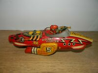 Vintage Marx Flash Gordon Rocket Fighter 5 Wind-Up Tin Toy