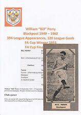 Bill Perry Blackpool 1949-1962 rare original signé magazine photo découpe