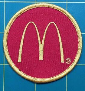 "mcdonalds patch McDonald's patch 2.5"" dia. mcdonalds patch iron on or sew patch"
