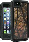I5-SMCA-325 Impact Gel Xtreme Armour Phone Case for iPhone 5 - Orange Camo
