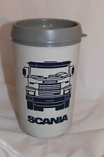 Scania Swedish Truck Travel Mug Right Left Handed Rare Made By Aladdin