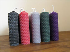 "Beeswax Candles 4"" Set of 5, mixed colours"
