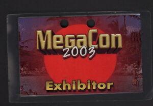 Mega Con 2003 Orlando Comic Convention Exhibitor Badge