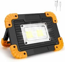 Rechargeable LED COB Work Light Security Floodlight Outdoor Camping Lamp