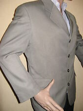 MENS BEIGE RIVER ISLAND PURE WOOL SINGLE BREAST FASHION SUIT 40R CHEST 32 WAIST