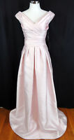 Pronovias Barcelona 12 Pearl Pink Lasira Couture Bridesmaid Gown Pageant NEW