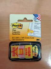 3M Post it Flags SIGN HERE yellow 25.4 x 43.2mm 50 flags / notes