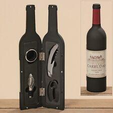 Wein Zubehör 5 teilig in einer Weinflaschenetui H33cm Geschenk Flaschenöffner