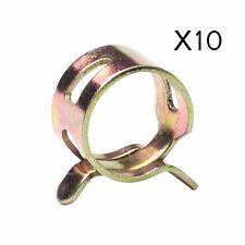 """10pcs 3/8"""" 10mm Spring clip Fuel Oil Line Silicone Vacuum Hose Clamp"""