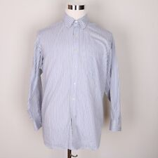 Chaps Classic Fit Twill Striped Casual Dress Shirt Men 16-16 1/2 32-33
