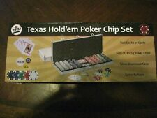 New listing Fat Cat Texas Holdem 500 Poker Chip Set with Case New