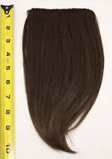 10'' Long Clip on Bangs Chocolate Brown Cosplay Wig Hair Extension Accessory NEW