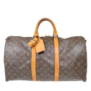 LOUIS VUITTON KEEPALL 50  BANDOULIERE TRAVEL HAND BAG MONOGRAM M41416  tp 91257