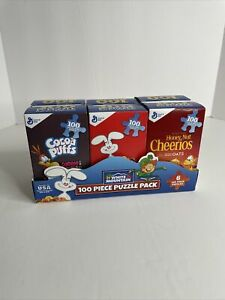 White Mountain 100 Piece Puzzle Pack (6) 100 Pc. Mini Cereal Boxes Puzzles