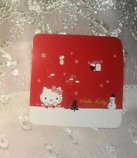 1.5in Hello Kitty Sticker WINTER mittens present snowman trees snowflake red