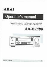 Akai  Bedienungsanleitung user manual owners manual  für AA- V 2080