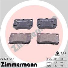ZIMMERMANN Bremsbeläge Bremsbelagsatz Bremsklötze Hinten 24323.155.1