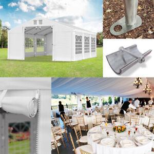 Partyzelt 3x4 - 6x12m Festzelt Pavillon Bierzelt Sommer verstärktes Weiß PVC