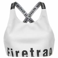 Firetrap Luxe Top Cross Back Ladies WHITE / BLACK UK 10 Small A612-2