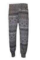Ladies Plus Size Printed Harem Pants Cuffed Bottom Ali Baba Womens Trousers 8-26