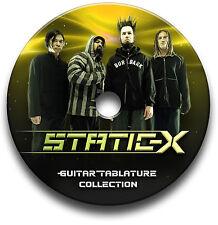 STATIC-X HEAVY ROCK GUITAR TAB TABLATURE SONG BOOK SOFTWARE CD